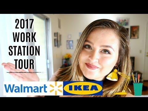 Art Desk/Work Space Tour 2017 | Amanda Elise