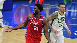 Jaylen Brown 42 Pts vs Embiid 38 Pts! Simmons Clutch 4th! 2020-21 NBA Season