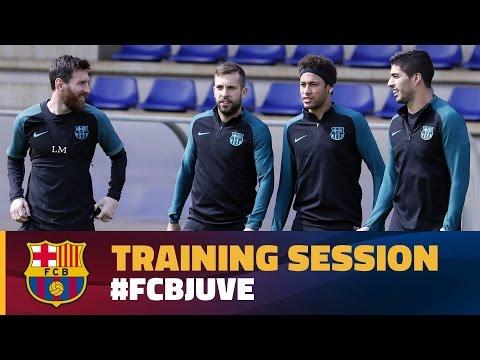 Final training session before return leg against Juventus