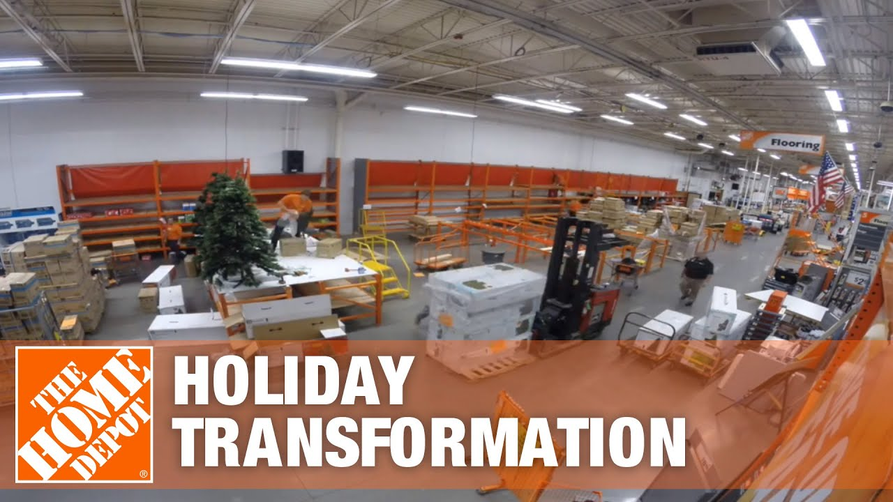 Home Depot Holiday Hours The Home Depot Store Holiday Transformation Youtube