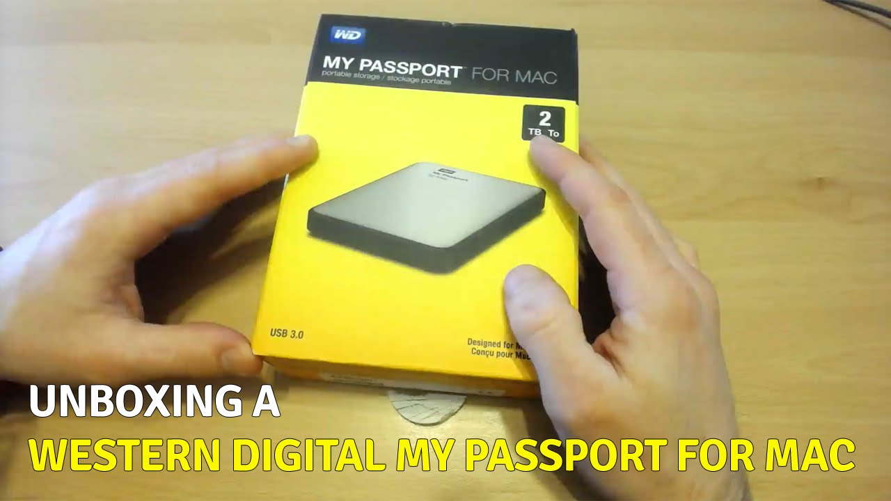 Unboxing a WD My Passport for Mac Portable Hard Drive