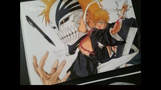 Drawing Ichigo from Bleach [Hollow Form] ► Happy New Year 2016 !!