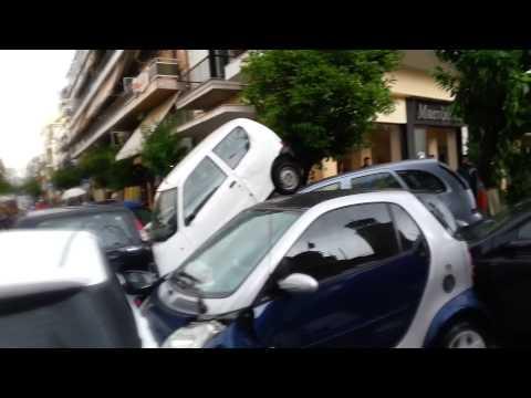 απιστευτες εικονες απο την βροχη στον Πειραια.. unbelievable video from rain in Piraeus
