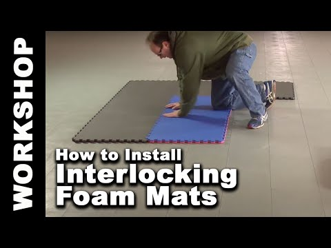 How to install 2x2 ft interlocking foam mat and tile floors - Greatmats