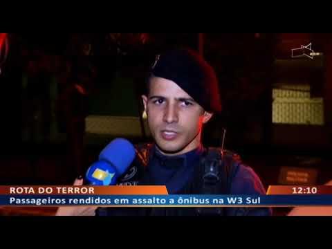 DF ALERTA - Passageiros rendidos em assalto a ônibus na W3 Sul