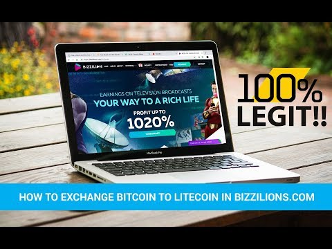 BIZZILION PAYING - How To Exchange Bitcoin To Litecoin & Live Withdrawal LTC And ETH