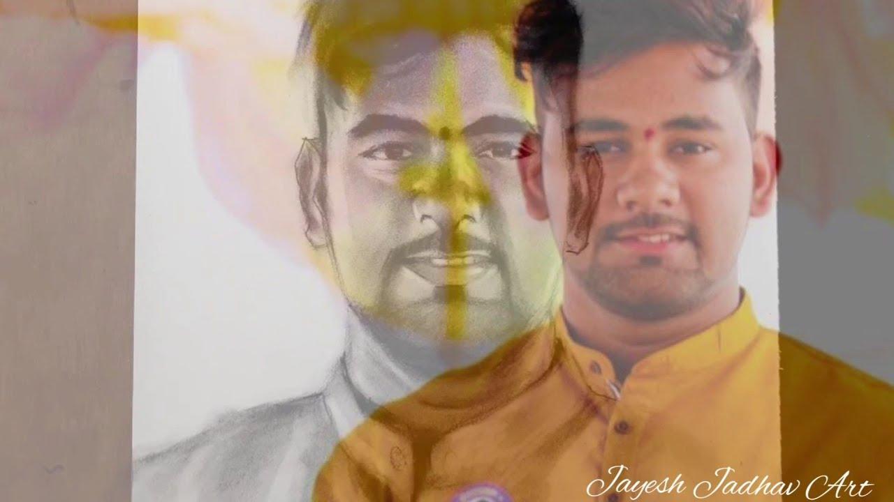 Happy Birthday Brother   Karan Thakur   Portrait Sketch   Jayesh Jadhav Art