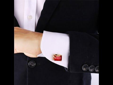 Как одевать запонки на обычную рубашку