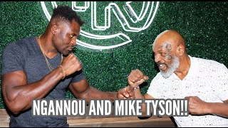 FRANCIS NGANNOU learns from the legend MIKE TYSON!