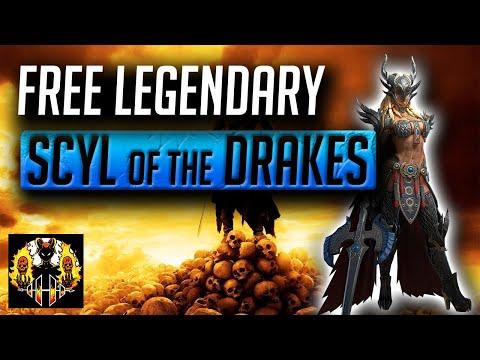 RAID: Shadow Legends | Scyl of the Drake Champion Guide | NEW FREE LEGENDARY! 180 day login reward!