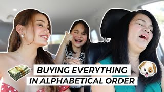 BUYING EVERYTHING IN ALPHABETICAL ORDER | IVANA ALAWI