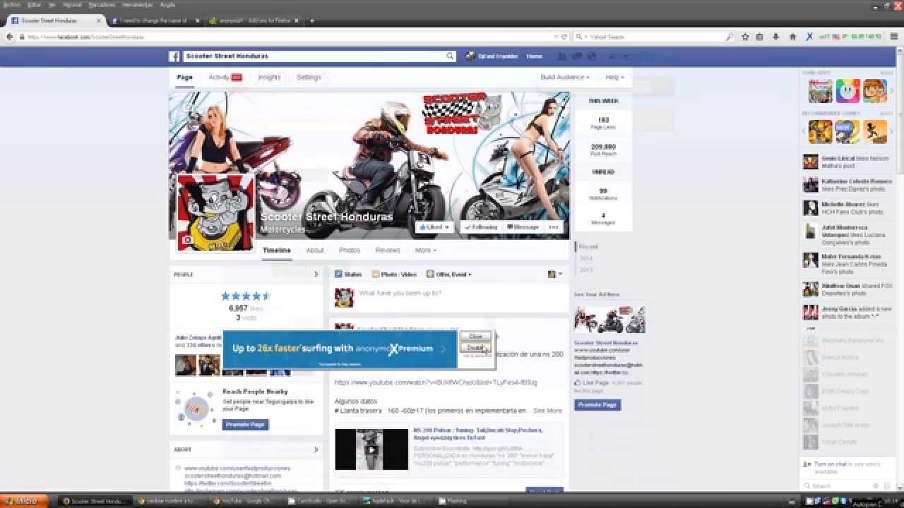 UNICA MANERA cambiar nombre a pagina de Facebook con mas de 200 fans ...