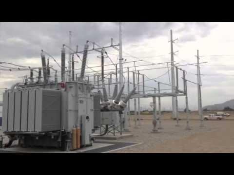 230kV solar PV generator step up sub