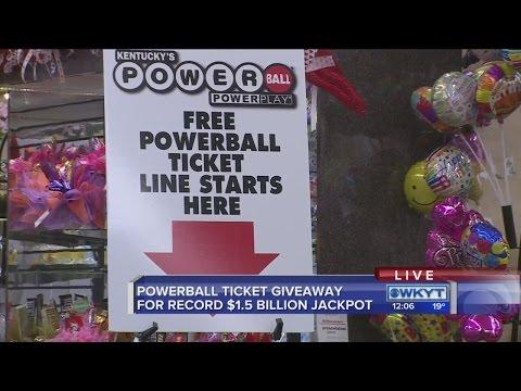 Kentucky Lottery giving away free Powerball tickets - YouTube