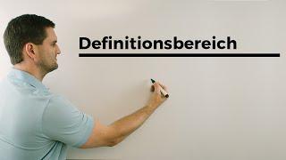 Definitionsbereich, Nachhilfe online, Hilfe in Mathe, einfach erklärt | Mathe by Daniel Jung