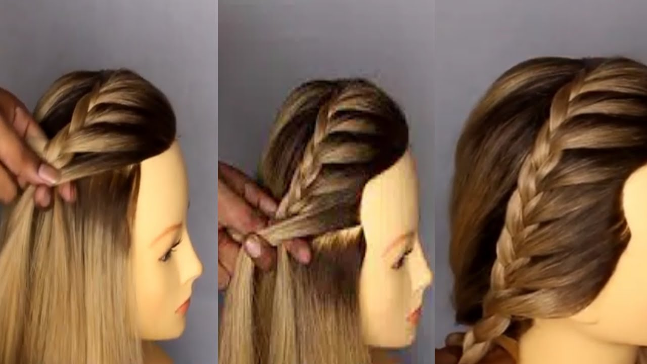beautiful front braid simple and easy hairstyle tutorial   kuldeep hairstylist  new delhi ...