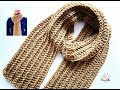 HOW to crochet MEN'S SCARF / Beginner