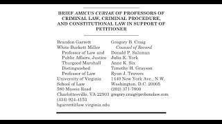 Revisiting The SCOTUS Amicus Briefs: Law Professors Brief