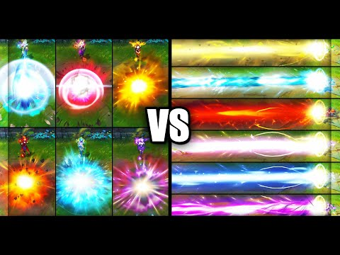 Ultimate Elementalist Lux vs Legendary Dark Cosmic / Cosmic Lux Skins Comparison (League of Legends)