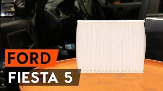 Hur byter man Kupeluftfilter FORD FIESTA V (JH_, JD_) - videoguide