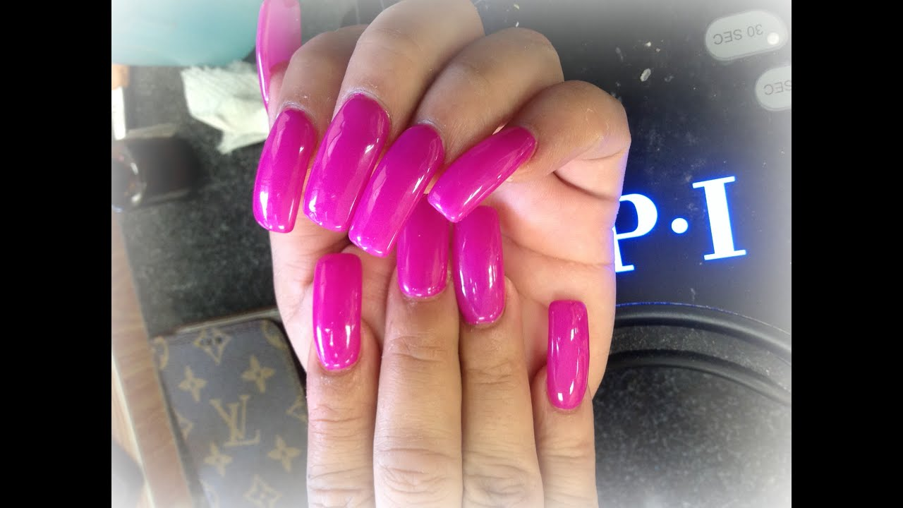 Long Acrylic Nails | Fast Acrylic Application Technique | Gel Polish ...