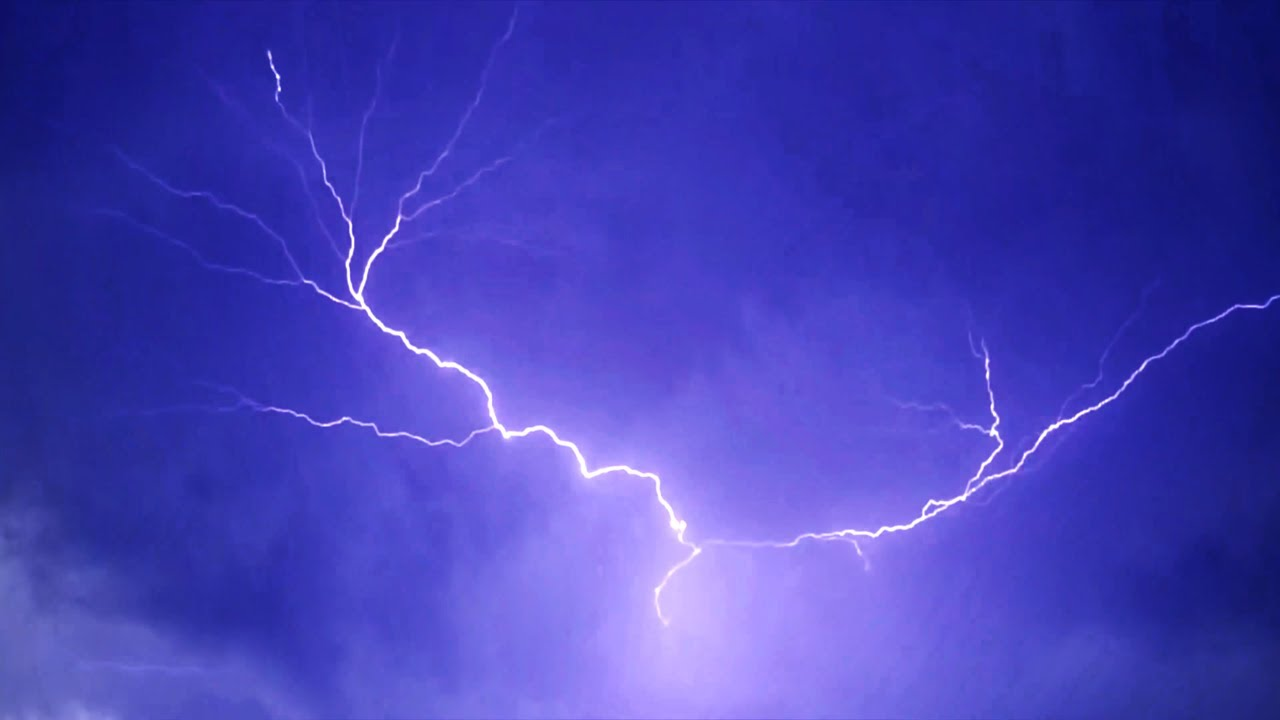 blue lightning and thunder effect(channel art background)