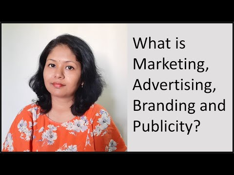 What Is Marketing, Advertising, Branding And Publicity ?