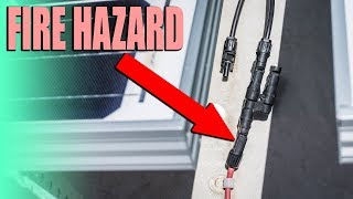 RV Electrical Fire Hazard - Melted Solar Connection Fire Risk Fix