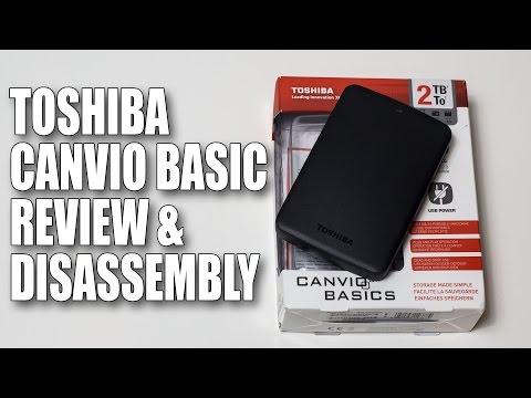 Toshiba Canvio Basics Portable Hard Drive Review & Disassembly 2TB