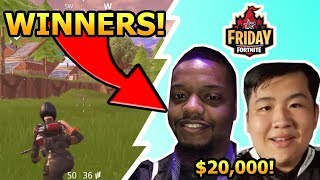 FORTNITE FRIDAY WINNER KingRichard & Aimbotcalvin! $20,000 FORTNITE TOURNAMENTS!