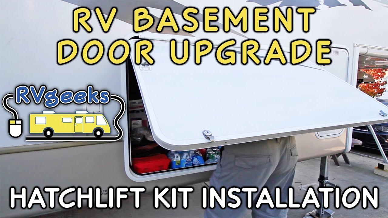RV Basement Door Upgrade — Hatchlift Kit Installation