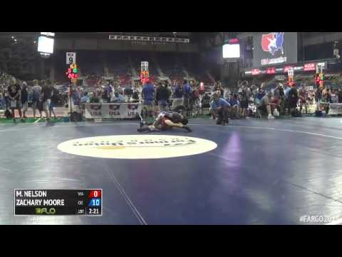 145 Champ. Round 1 - Zachary Moore (Oklahoma) vs. Max-henry Nelson (Washington)