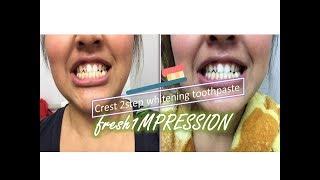 FRESHimpression || crest whitening 2-step toothpaste
