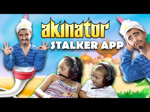Akinator Knows Everything! STALKER APP COMES TO LIFE! Creepy GURU Fun! (FGTEEV GAMEPLAY / SKIT)