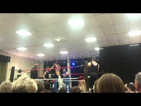 wrestling match at dinnington Resources centre p1