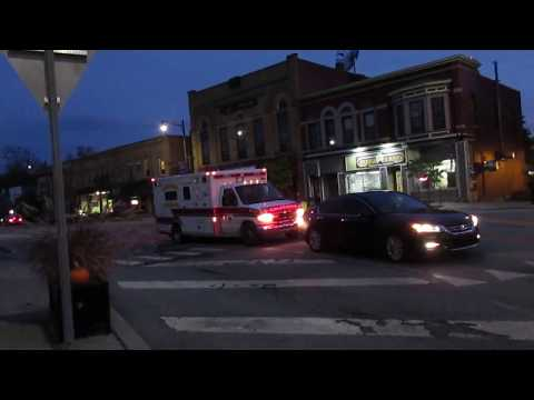 Caledonia Fire District Rescue 119 Responding Mutual for a Rollover MVA
