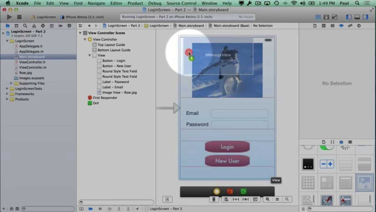 Background image xcode - Xcode 5 Login Viewcontroller Setup And Background Image Tutorial Part 2 5