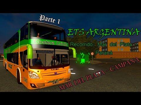 MAR DEL PLATA - PARANÁ (PARTE 1) | ETS 2 BUS MOD COSTERA CRIOLLA
