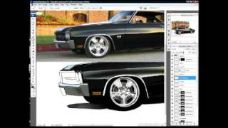 Car Drawing and Rendering in Photoshop using Cintiq (Chip Foose Mixed Media Style)