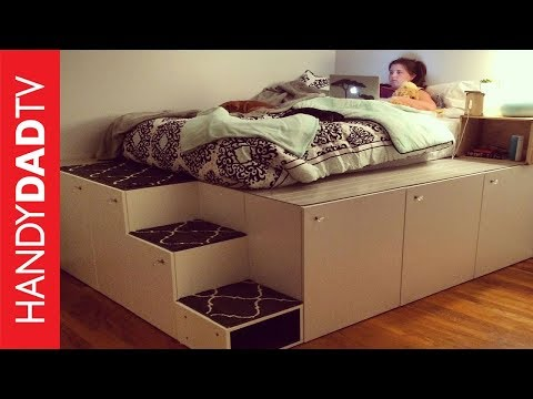 ikea hack platform bed diy lifehacks. Black Bedroom Furniture Sets. Home Design Ideas