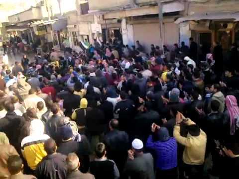 شام ,, حماه حي كازو  ,,مظاهرات الاحرار جمعة بروتوكول الموت ,,23 12  2011 ,, جــ2