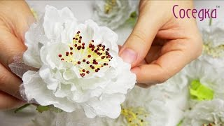 Белые искусственные цветы  Цветы для свадьбы  Wedding flowers