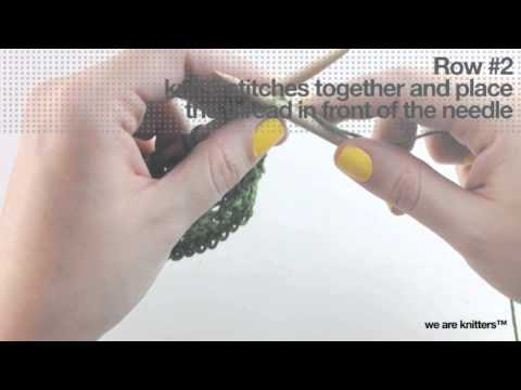 Einfaches Lochmuster - WE ARE KNITTERS - YouTube