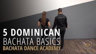 Dominican Bachata Footwork \\u0026 Partnerwork - Demetrio \\u0026 Nicole \x5bBachata Dance Academy\x5d