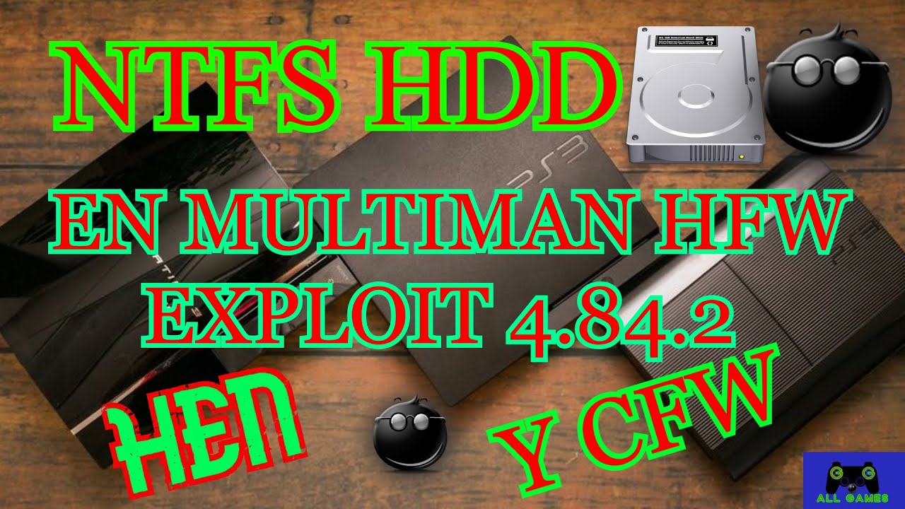COMO USAR TU DISCO DURO NTFS EN MULTIMAN HEN O CFW   FAT/SLIM/SUPER SLIM  TUTO DEFINITIVO!!!