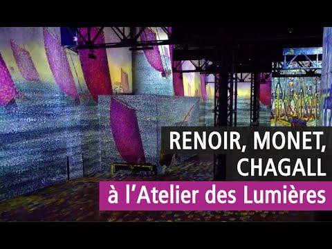 Spectaculaire : l'exposition Monet, Renoir, Chagall de l'Atelier des Lumières en vidéo - YouTube