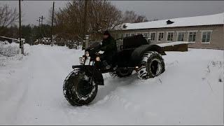Мотоцикл Урал. Зимний беспредел!