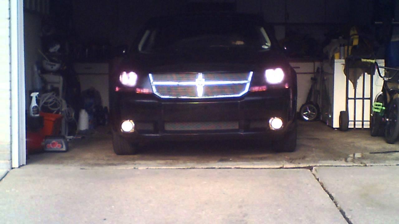 Dodge Avenger R T Black Out Headlighs