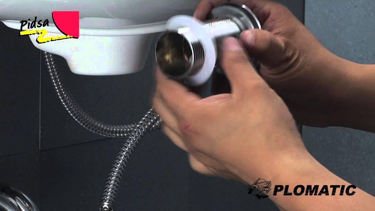 Cómo instalar el Desagüe para Lavabo con Tapón Push - YouTube