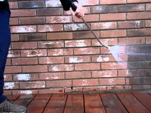pressure wash and clean brick mpg youtube. Black Bedroom Furniture Sets. Home Design Ideas